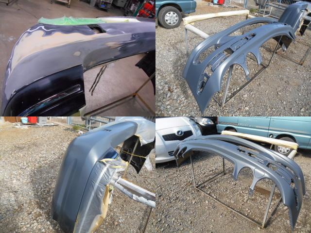 AMGのバンパー修理1
