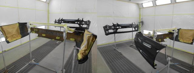 AMGのバンパー修理4